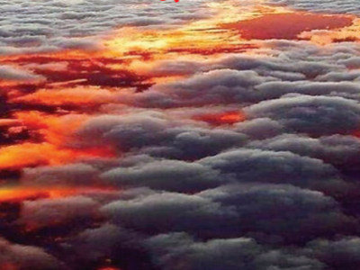 सूर्यास्ताची अफलातून किमया